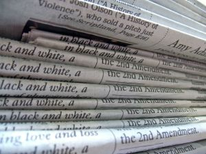 Newspapers' problems are piling up, but some newspapers have caused some of their own problems. (credit: Daniel R. Blume/Wikimedia/Creative Commons)