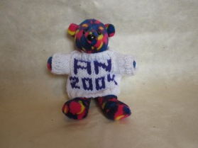 "My ""Wendy bear"" from the first Canadian adult skating championships. US adult skater Wendy Bauer made one of these for each competitor."