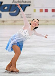 Olympic medalist and former world champion Midori Ito competes in the 2011 International Skating Union adult skating competition in Oberstdorf, Germany. (credit: unknown photographer)