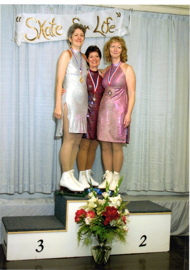 Me, Barb, and Audrey at the 2004 British Columbia-Yukon Adult Open skating competition.