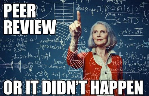 ...as long as the peer reviewer isn't underqualified or overworked. (credit: IFLS/Facebook)
