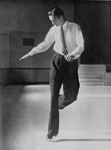 British skater Graham Sharp, 1939 world champion, practicing figures. If only we could all look this dapper on the ice. (Photo from the 1938 book [i] Modern Figure Skating [/i] by T.D. Richardson.)