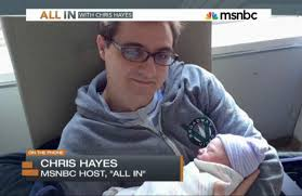 MSNBC's Chris Hayes, starting his paternity leave. (credit: msnbc.com)
