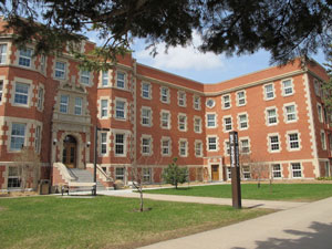 Pembina Hall at the University of Alberta. It's now an administrative building, but it was the on-campus residence for older students when I was a U of A student. I lived there for the last full year I spent on campus. (credit: University of Alberta)