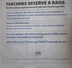 The second page of the BC government's ad in 24 Hours, June 20, 2014.