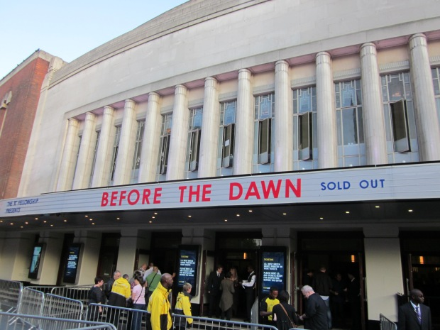 The marquee at the Hammersmith Apollo. (credit: own photo)