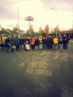 IKEA workers in Richmond, BC, celebrate the end of their bargaining dispute. (credit: Facebook/Teamsters  Local 213)