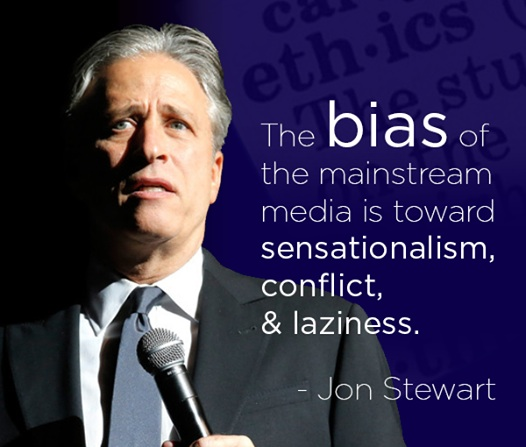 "I'm not sure about the ""laziness"" part, but as usual Jon Stewart speaks the truth. (credit: Facebook/Sen. Bernie Sanders)"