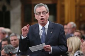 Joe Oliver, Canada's minister of finance, speaking in the House of Commons. (credit: torontosun.com)