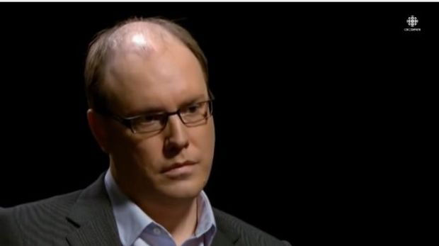 Chris Boyce, executive director of CBC radio, being interviewed on the CBC television program The Fifth Estate in November 2014. (credit: YouTube)